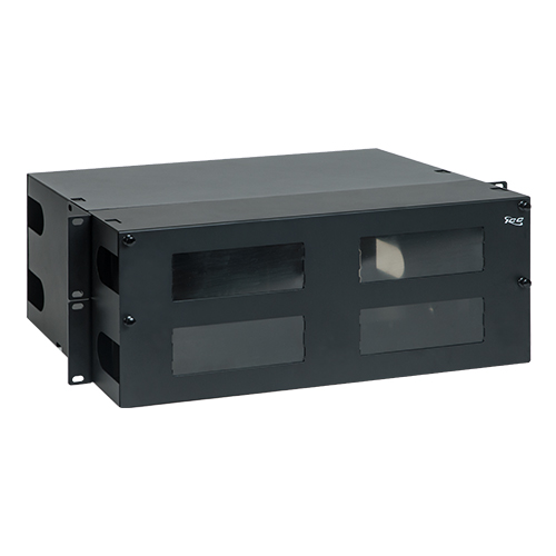 Fiber Optic Rack Mount Enclosure With 12 Panels And 4 Rms
