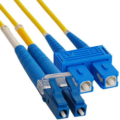 Jumper Lc Sc Duplex Sm on Work Cable Punch Down