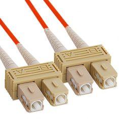 SC-SC Duplex Multimode 62.5/125 (OM1) Fiber Optic Patch Cable with in Orange