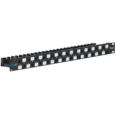 CAT 6A UTP Patch Panel with 24 Ports and 1 RMS