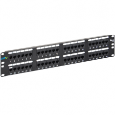 CAT 5e Patch Panel with 48 Ports and 2 RMS