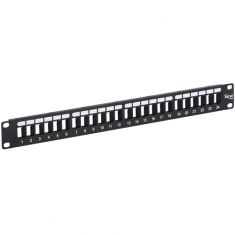 Blank Patch Panel with 24 Ports for HD Style in 1 RMS