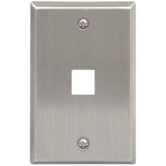 Classic Stainless Steel Faceplate with 1 Port for EZ/HD Style in Single Gang
