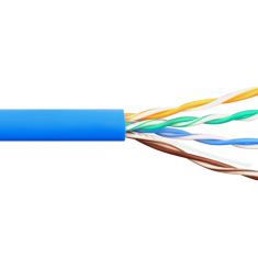 350Mhz CAT 5e Bulk Cable with 24 AWG UTP Solid Wires, CMR Jacket in a Pull Box, 1000 Feet