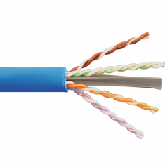 650MHz CAT6A Bulk Cable with 23 AWG UTP Solid Wires, CMR Jacket in a Pull Box, 1000 Feet