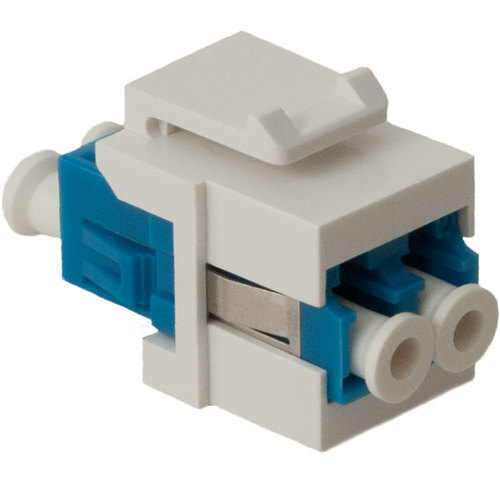 Lc Fiber Optic Keystone Coupler With Ceramic Sleeves And