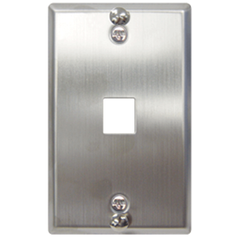 Telephone Stainless Steel Faceplate with 1 Port for EZ/HD