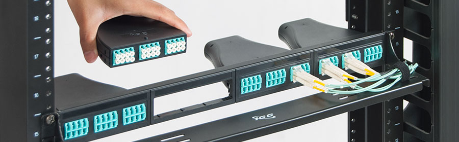 LC-MPO High-Density Plastic Cassette Fiber Optic Patch Panel