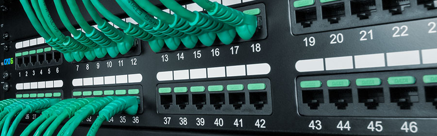 CAT6 patch panel with patch cords