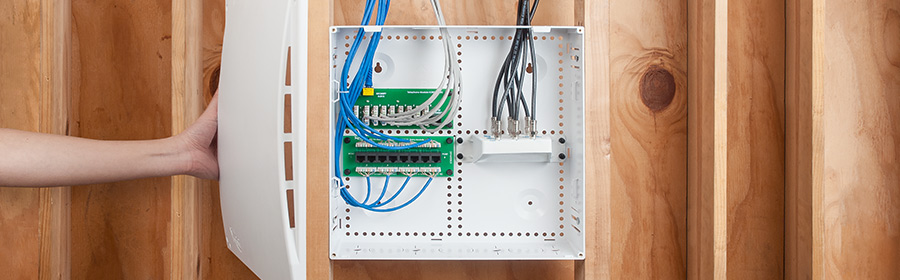 14-inch plastic residential wiring enclosure for wireless networks